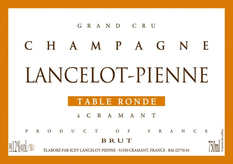Lancelot pienne champagne table ronde brut blanc de blancs - Table ronde blanc ...