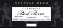 Paul Bara Champagne Special Club 2014 Grand Cru