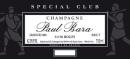 Paul Bara Champagne Special Club 2014 Grand Cru